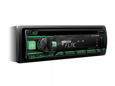 CD-tuner_CDE-201R_Green-Angle