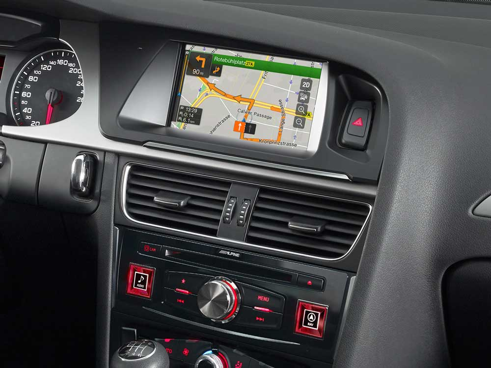 Advanced Navi Station, Alpine Style Product for Audi A4 and A5 - Alpine - X701D-A4