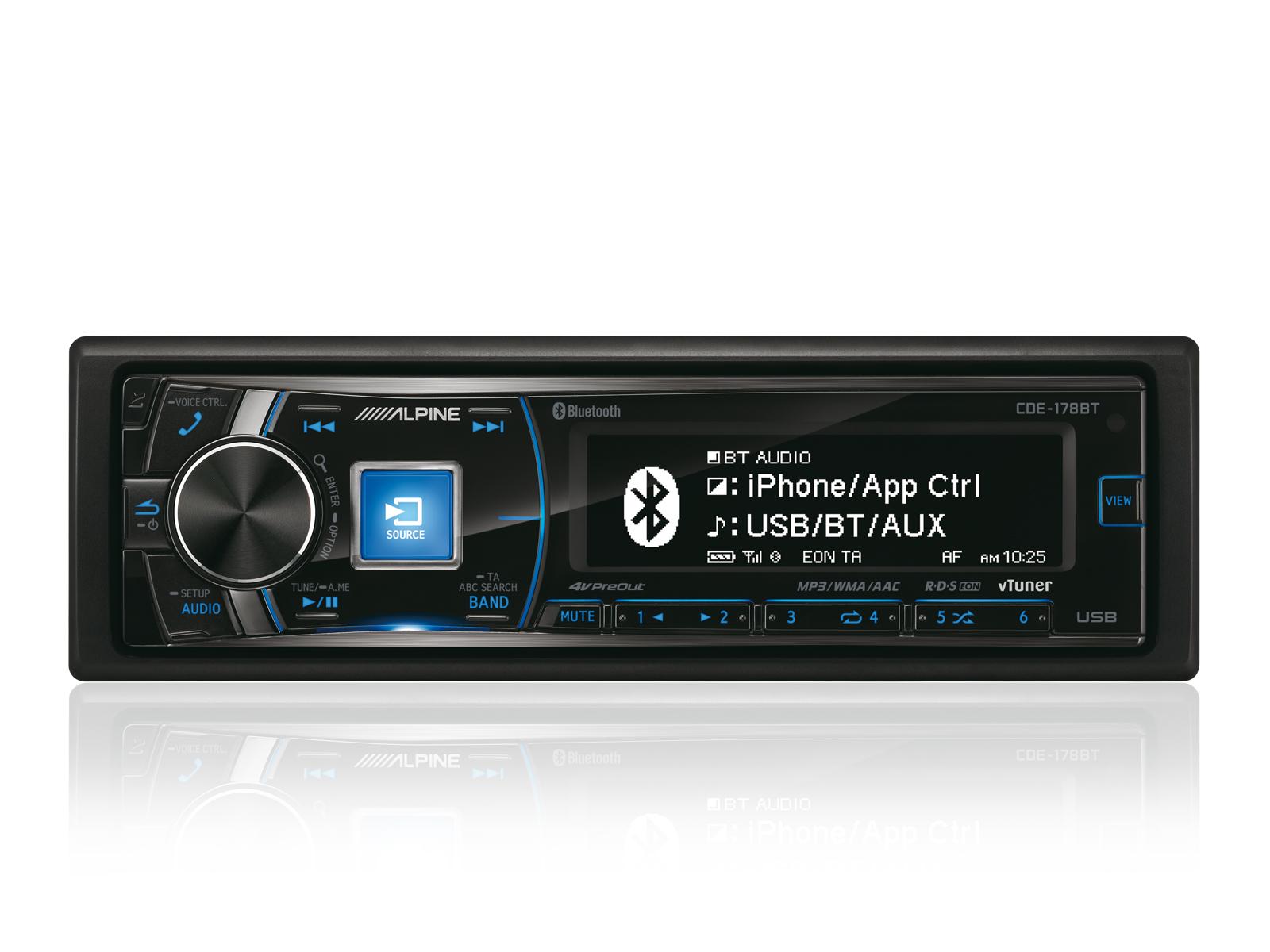 cd receiver with bluetooth alpine cde 178bt rh alpine electronics se Best Alpine Head Unit 2013 Best Alpine Head Unit 2013