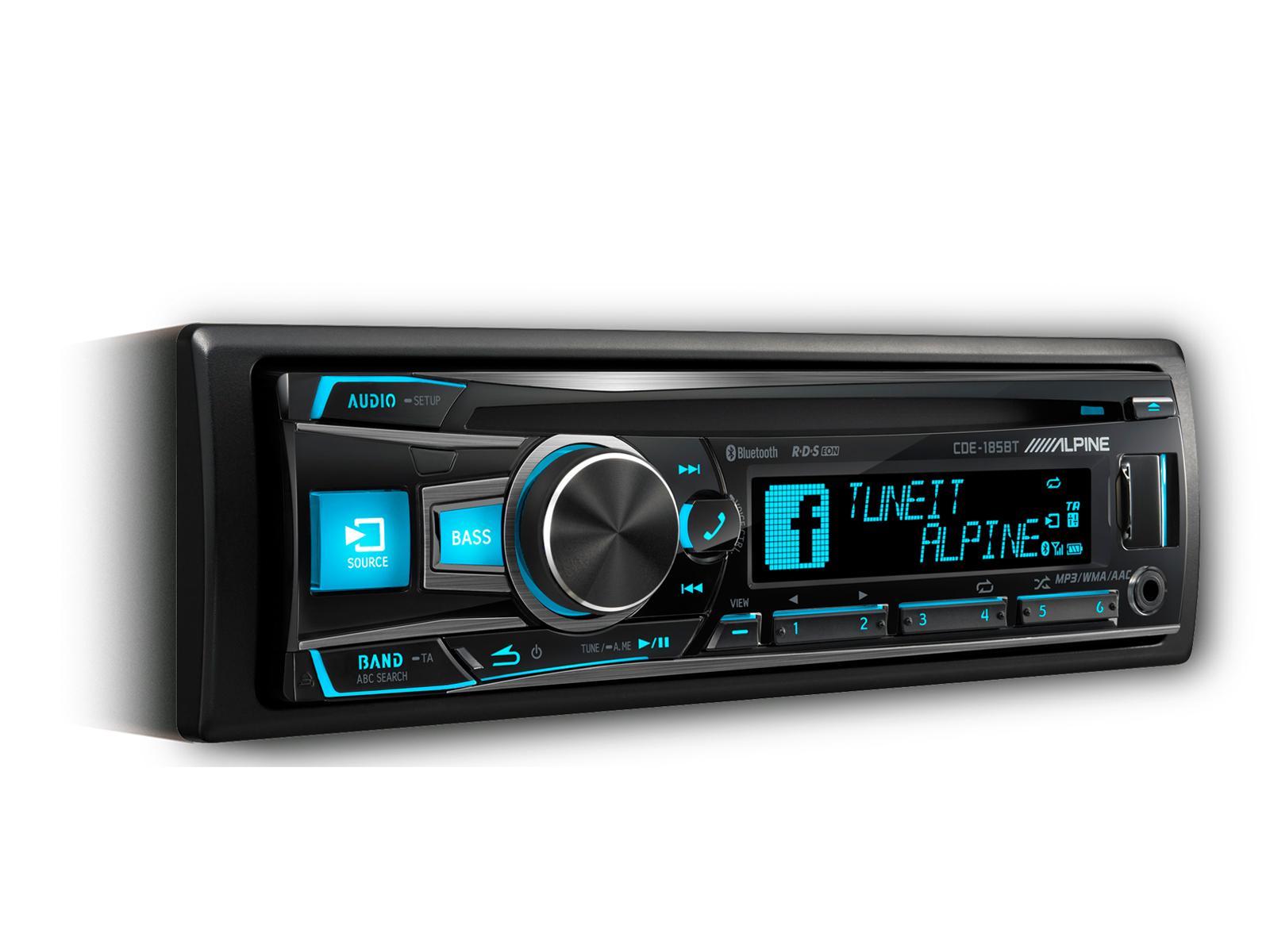 Cd Receiver With Advanced Bluetooth Alpine Cde 185bt Accessories Fm Gain Signal 180