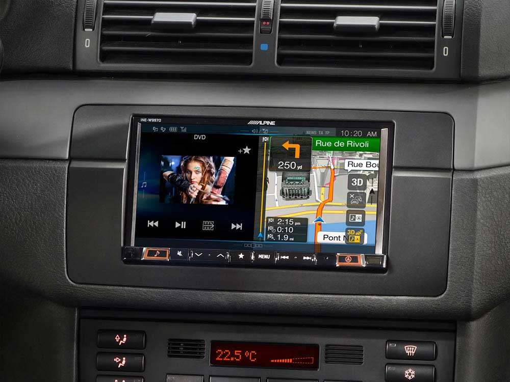 7-inch navigation system designed for BMW 3-series E46
