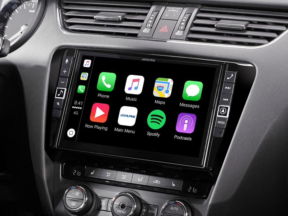 "9"" Mobile Media System for Skoda Octavia 3, featuring Apple"