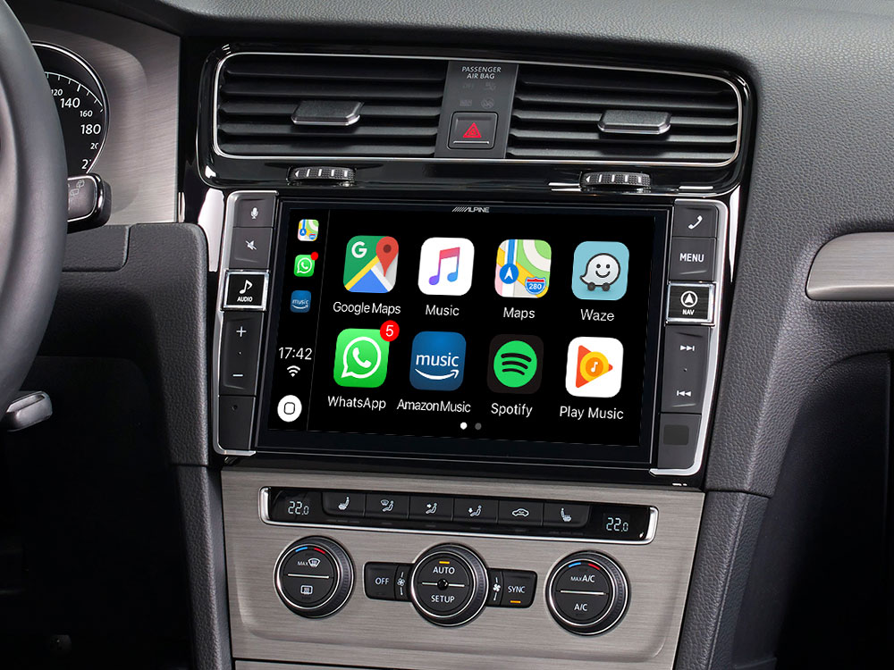 "9"" Mobile Media System for Volkswagen Golf 7, featuring Apple"