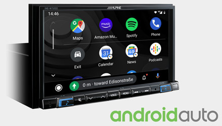 Works with Android Auto - INE-W720D