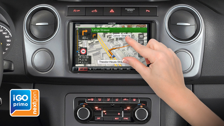 X803D-U Navigation System in VW Amarok with DAB Radio Bluetooth DVD
