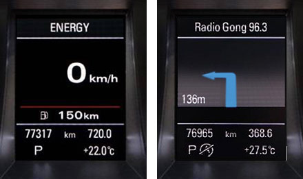 Audi Q5 - X702D-Q5: Driver Information Display
