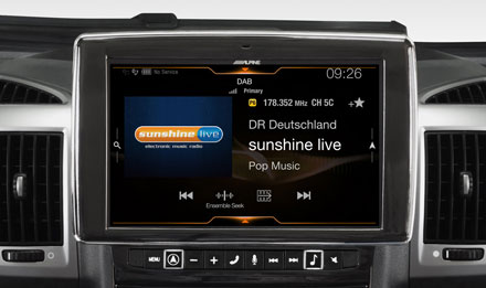 Ducato, Jumper and Boxer - DAB Digital Radio - X902D-DU