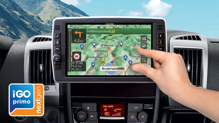 Alpine Style Navigation Designed for Ducato, Jumper and Boxer - X903D-DU2