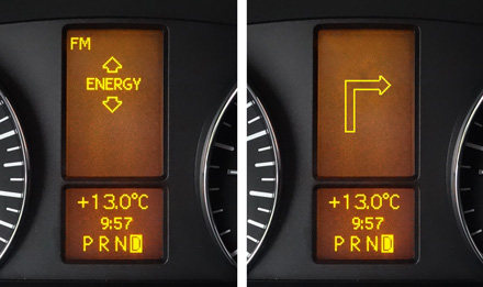 Retains visual representation of Driver Information Display